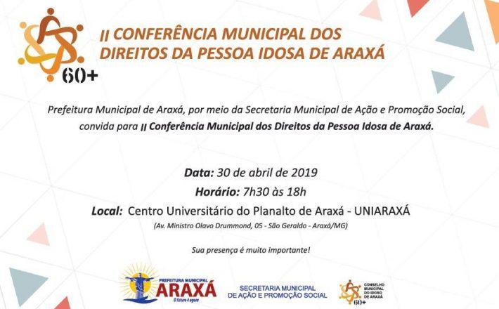 Prefeitura vai promover II Conferência Municipal dos Direitos da Pessoa Idosa