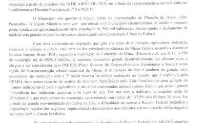 Prefeito Aracely também busca permanência da agência da Receita Federal em Araxá