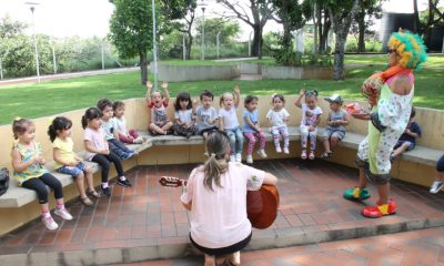 Parque do Cristo, revitalizado pela Prefeitura, recebe visita de alunos da rede de ensino