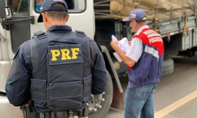 Fiscalização da Receita Estadual e PRF flagra mercadorias e veículos irregulares