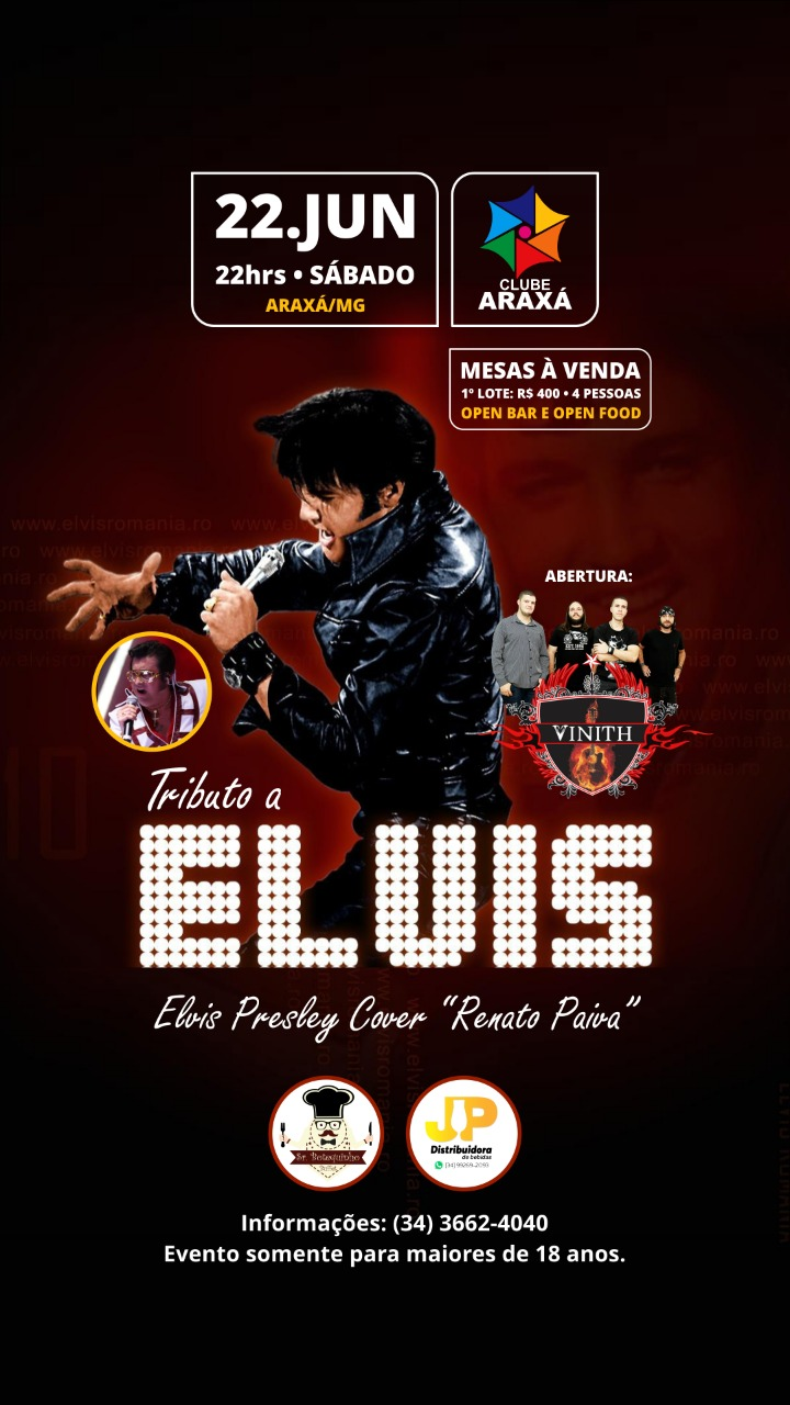 Clube Araxá apresenta:  Tributo a Elvis