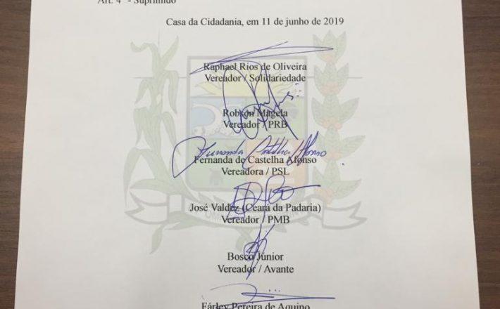 Vereadores são contra o reajuste salarial para prefeito, vice-prefeita e secretários municipais de Araxá