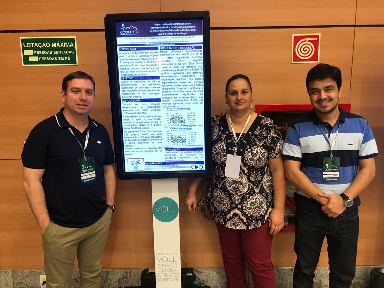 Araxaenses participam de Congresso Brasileiro de Fisioterapia