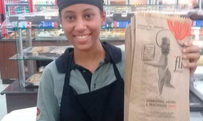 Sacos de pão exclusivos dão as boas-vindas para o Fliaraxá