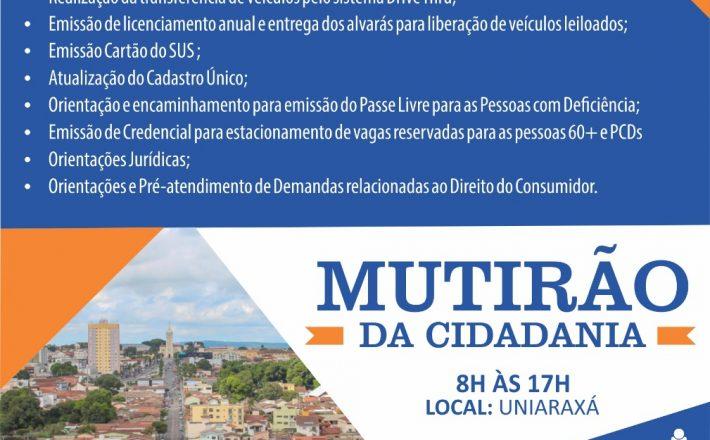 Prefeitura é parceira no Mutirão da Cidadania com a Delegacia de Trânsito