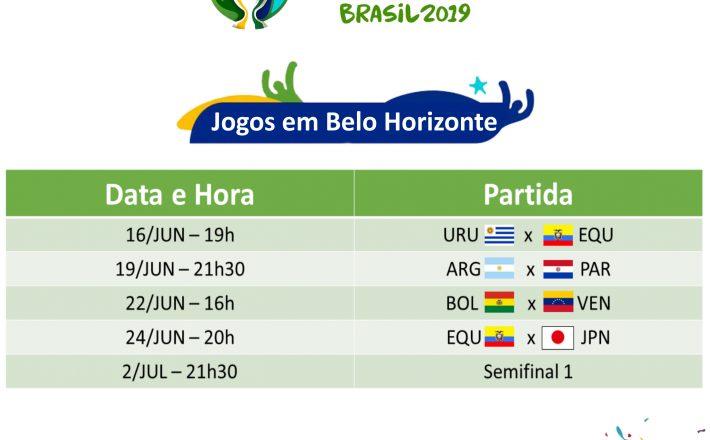 Mineirão recebe jogos da Copa América 2019 a partir do próximo domingo
