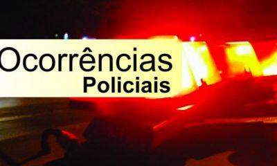 Ocorrências policiais de Araxá e região do final de semana (11 a 13 Outubro)