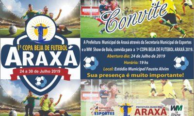 Em parceria com a WM Show de Bola, Prefeitura traz 1ª Copa Beja de Futebol Araxá