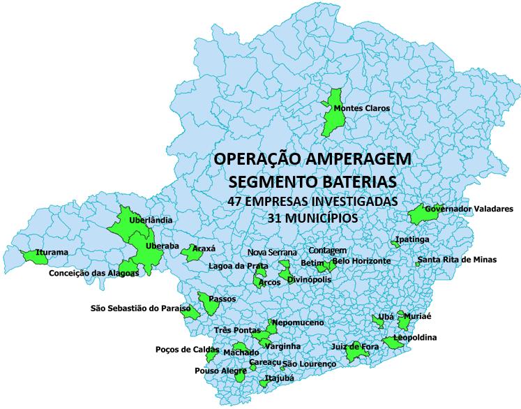 Receita Estadual fiscaliza 47 distribuidoras de baterias automotivas suspeitas de sonegação