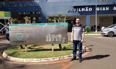 Raphael Rios visita pousada que atende pacientes de Araxá em Barretos