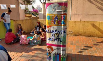 Projeto Geladeira Literária é implantado no Parque do Cristo com o apoio da Prefeitura