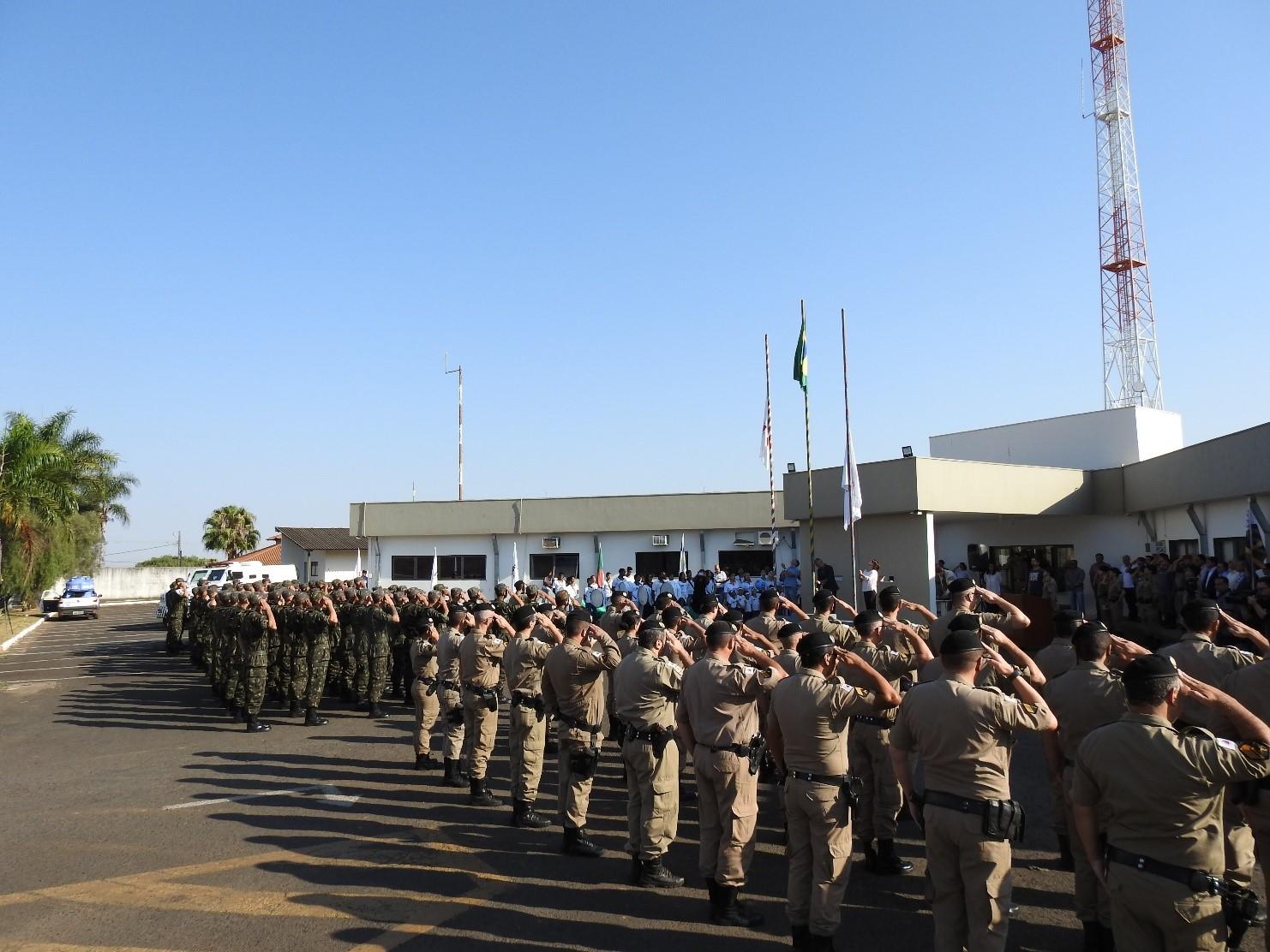 37ºBPM realiza Solenidade Cívica em parceria com a Prefeitura de Araxá em comemoração a Semana da Pátria