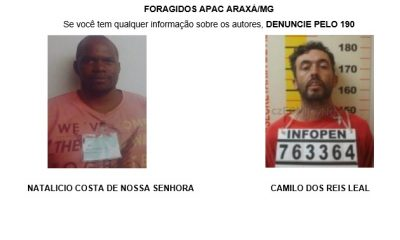 Foragidos APAC Araxá/MG
