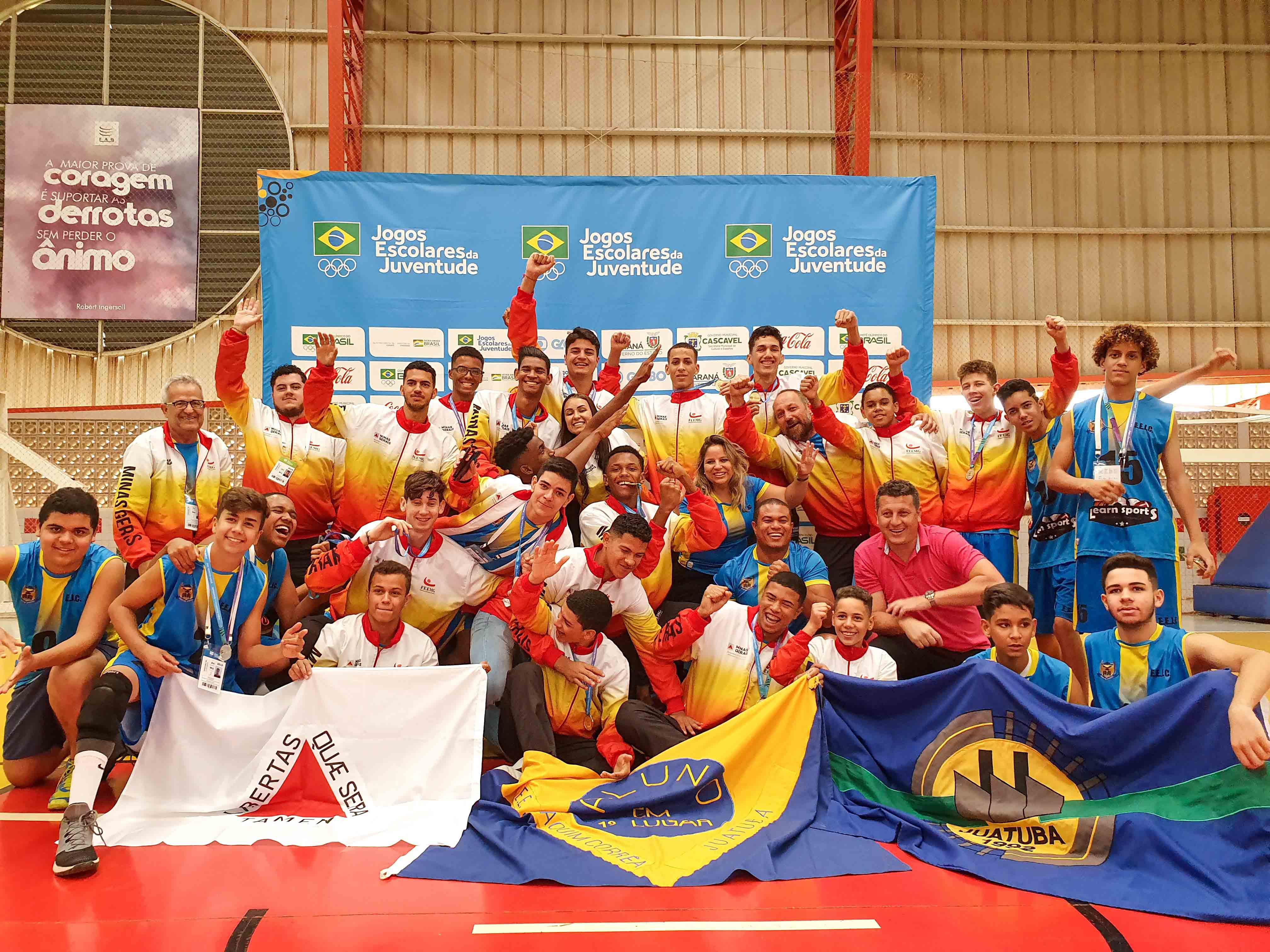 Minas Gerais tem mais oito equipes classificadas para a etapa nacional dos Jogos Escolares da Juventude