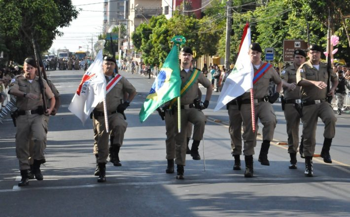 37º Batalhão da Polícia Militar participa do Desfile Cívico de 7 de Setembro em Araxá