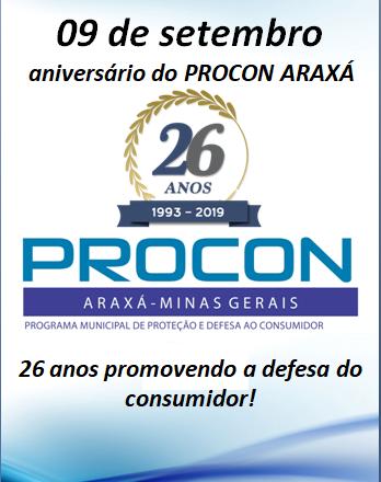 Procon Araxá completa 26 anos de serviços prestados ao consumidor