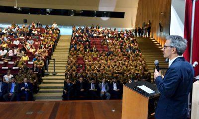 Romeu Zema participa do 56º aniversário do Gabinete Militar