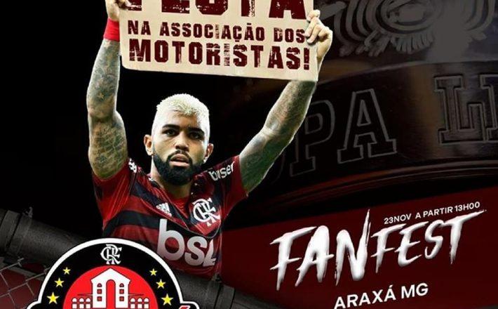 """Final da Libertadores: """"Fan Fest"""" reunirá torcedores do Flamengo em Araxá"""