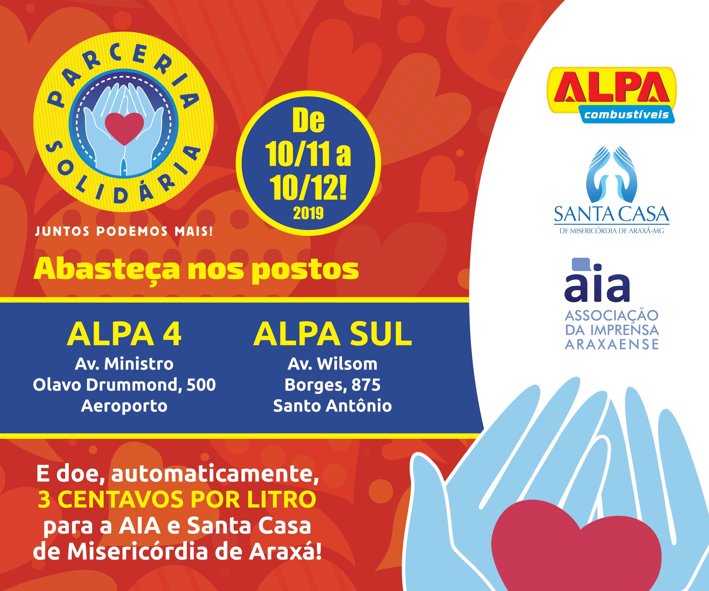 Campanha Solidária – Santa Casa – Postos Alpa
