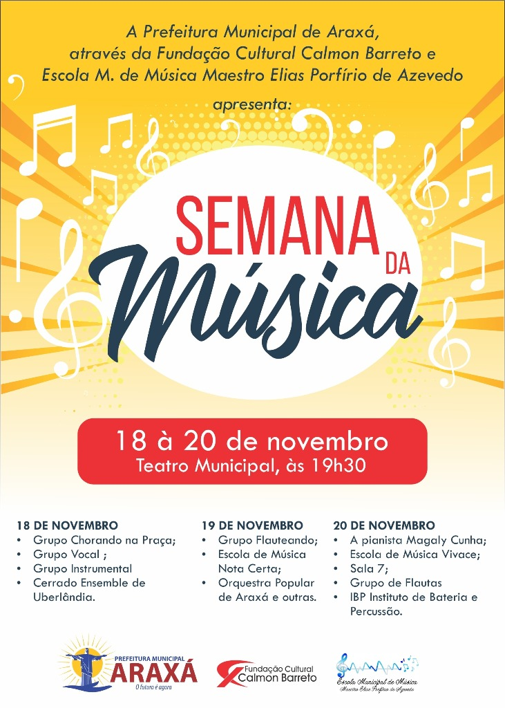 Semana da Música será realizada em Araxá