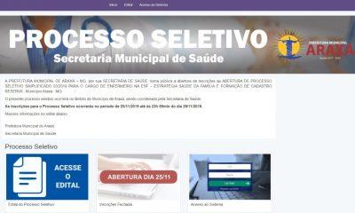 Prefeitura terá inscrições abertas para cargo de enfermeiro na ESF e formação de cadastro de reserva