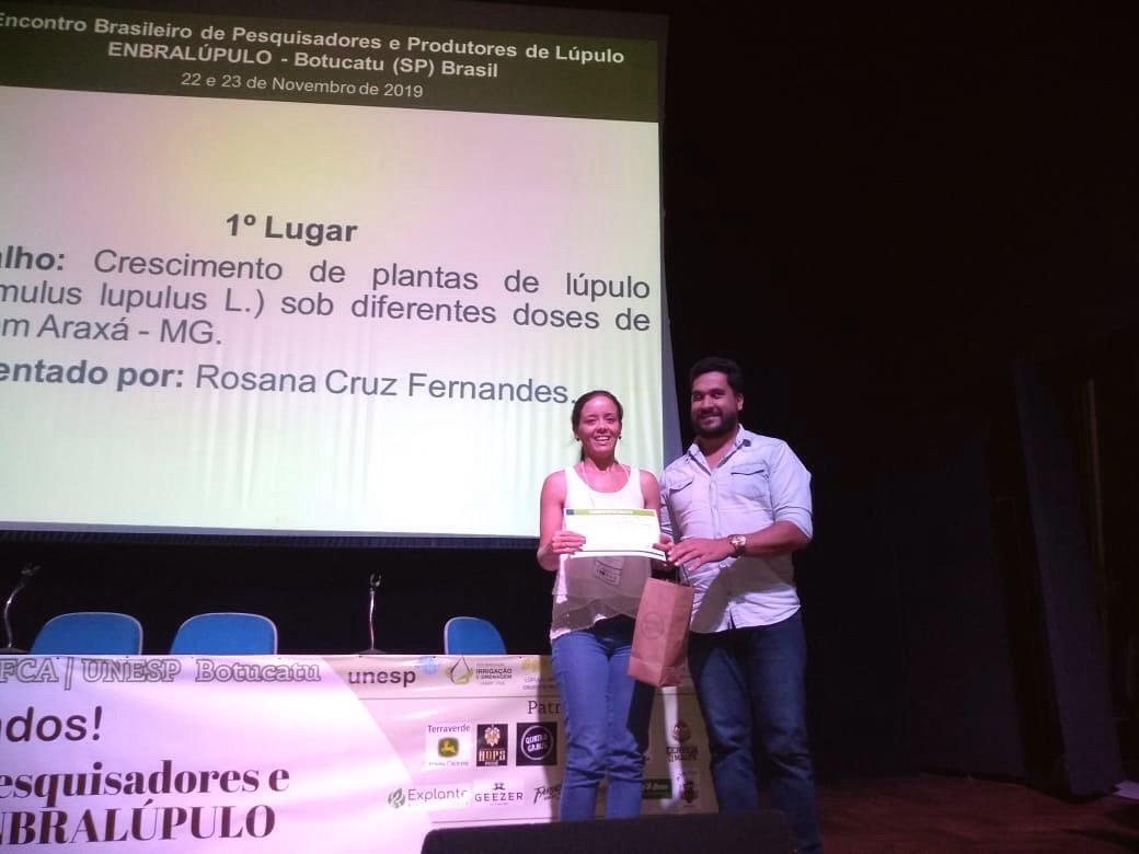 Produtores de lúpulo de Araxá-MG, ficam em primeiro lugar em evento nacional