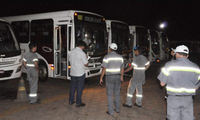 Prefeitura promove vistorias nos ônibus do transporte coletivo