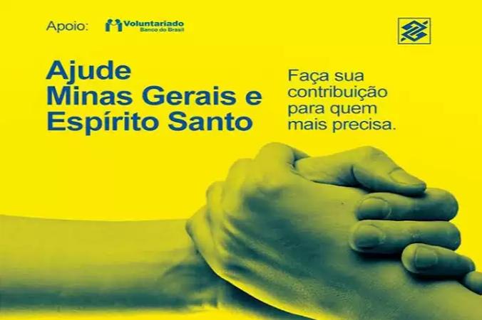 Banco do Brasil abre conta para doações a atingidos pela chuva em MG