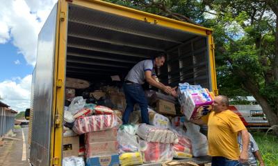 """Quinta Região da Polícia Militar arrecada mais de 5 toneladas de donativos durante Campanha """"SOS CHUVAS"""""""
