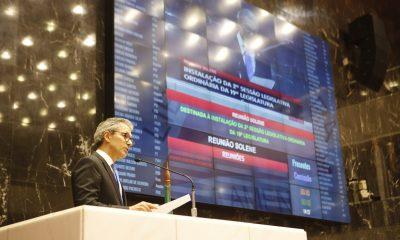 Romeu Zema participa de sessão de abertura do ano legislativo na Assembleia