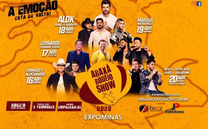 Iniciada a venda de ingressos individuais do Araxá Rodeio Show; confira preços
