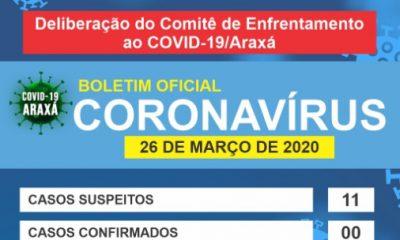 Informações Comitê de Enfrentamento ao COVID-19/Araxá
