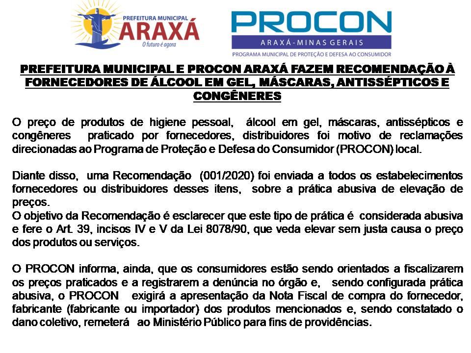 Medidas para combater o abuso nos preços em Araxá
