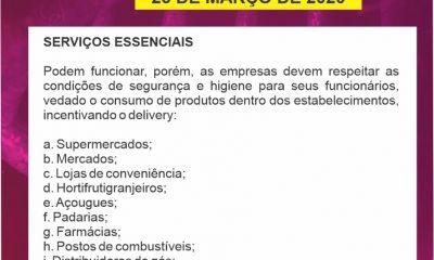 Comitê COVID-19/Araxá atualiza o funcionamento dos serviços essenciais