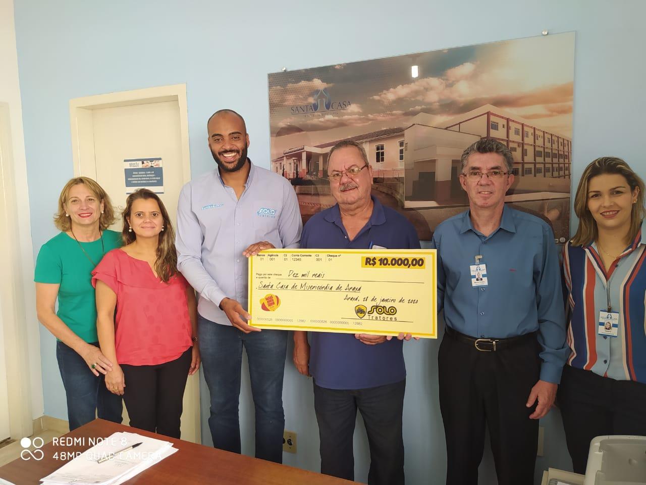 Araxá Rodeio Show: empresa parceira faz doação à Santa Casa