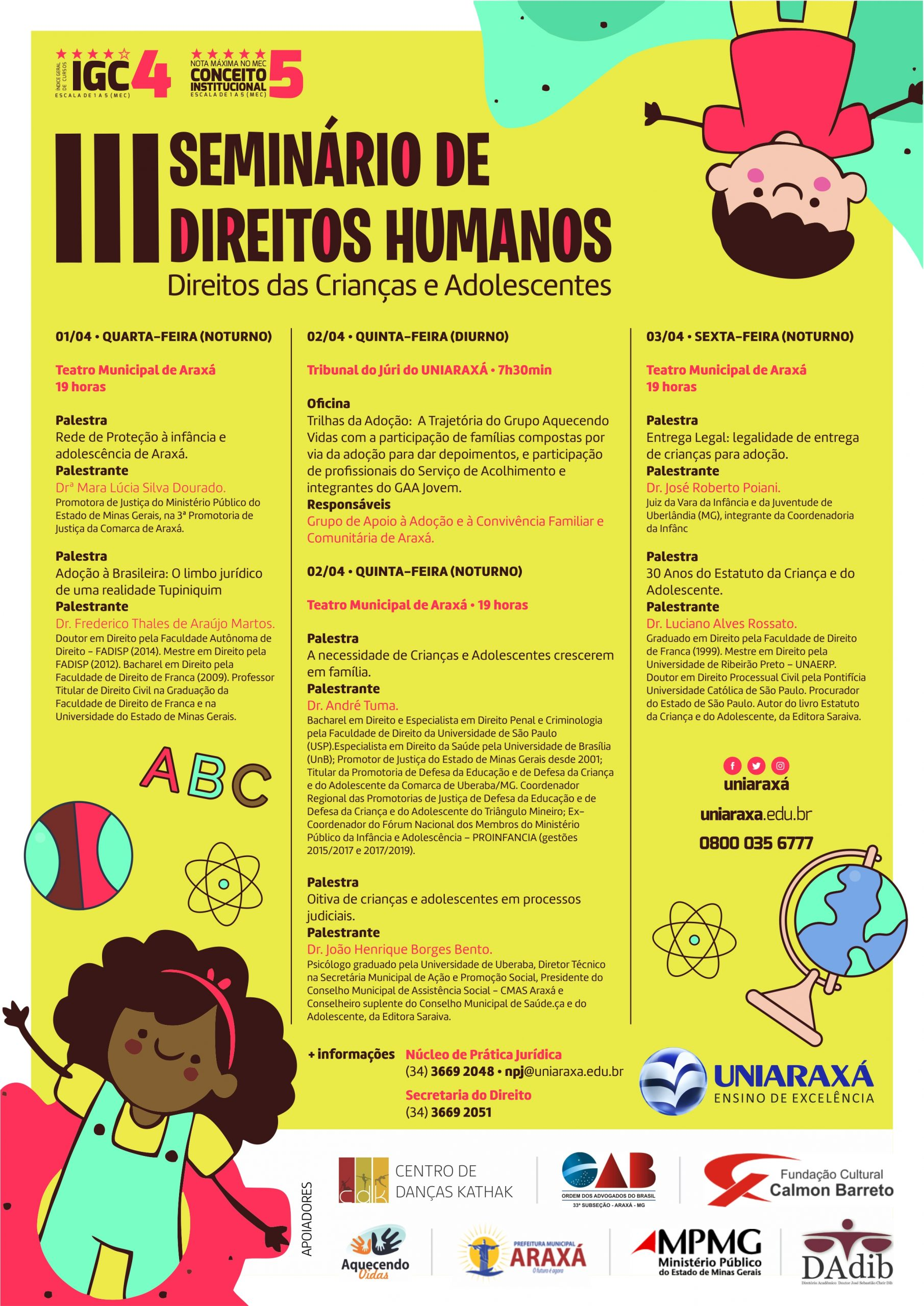 III Seminário de Direitos Humanos: Direito das Crianças e dos Adolescentes