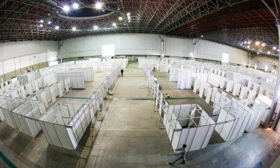 Governo de Minas conclui primeira etapa de hospital de campanha construído no Expominas(BH)