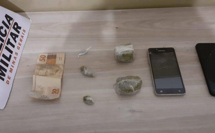 Polícia Militar prende/apreende autores e drogas em Araxá/MG