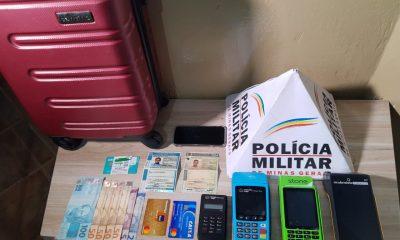 Operação conjunta entre Polícia Militar e Polícia Civil prende autor de vários golpes em Araxá e apreende diversos materiais