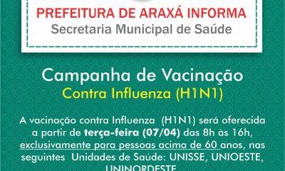 Vacinação contra Influenza em Araxá