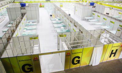 Governo de Minas conclui segunda etapa da construção do Hospital de Campanha no Expominas(BH)