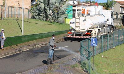 Prefeitura realiza desinfecção em estabelecimentos que prestam serviços essenciais