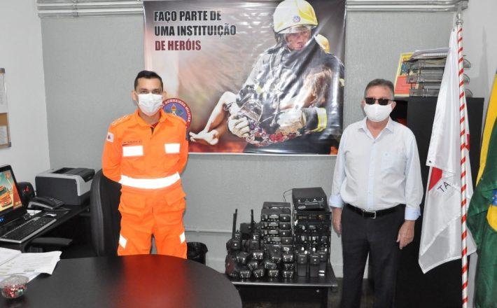 Parceria entre Prefeitura e Corpo de Bombeiros viabiliza equipamento de rádio transmissor para Segurança