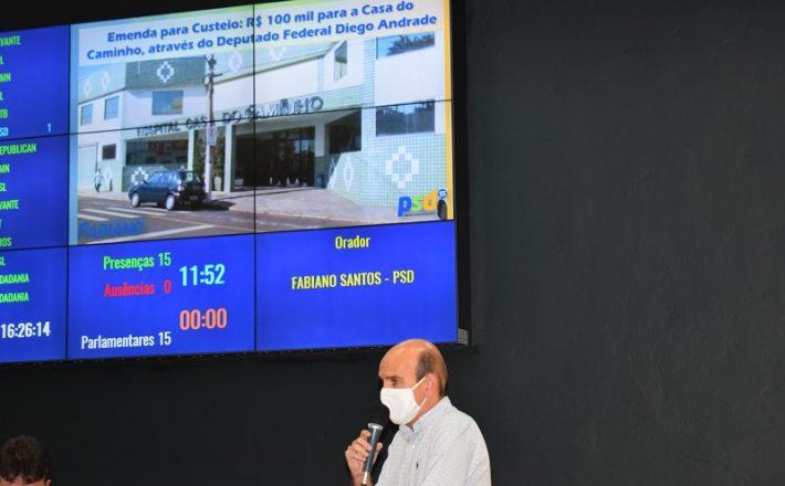 Fabiano anuncia emenda de R$ 100 mil para o Hospital Casa do Caminho