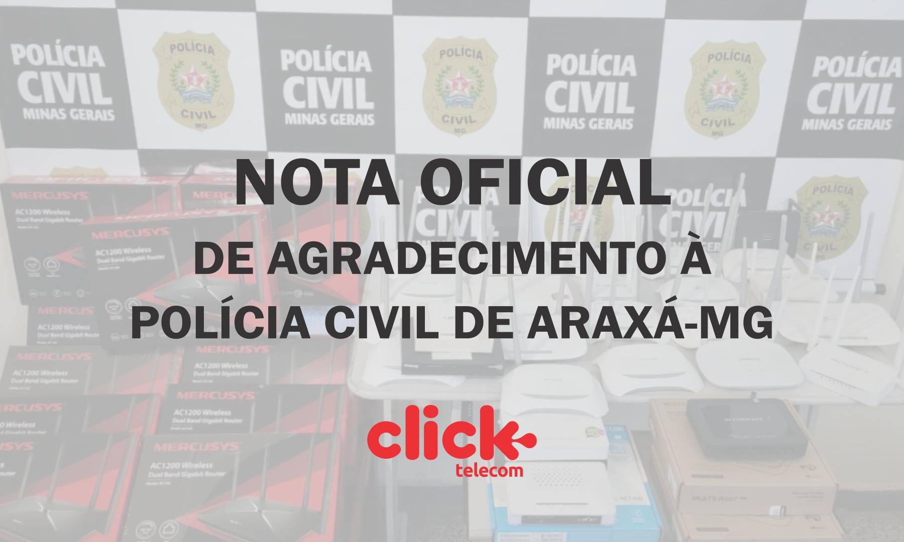 NOTA DE AGRADECIMENTO CLICK TELECOM