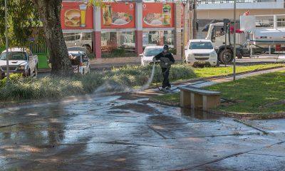 Prefeitura de Araxá continua com desinfecção para diminuir a proliferação do coronavírus