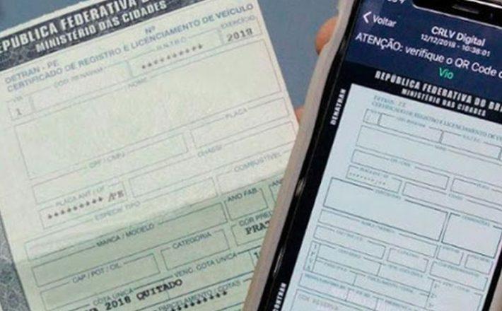 Minas Gerais suspende exigência do CRLV 2020 durante a pandemia