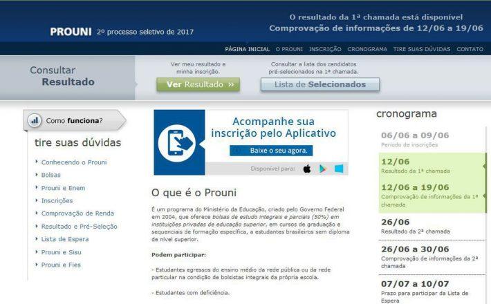 Prouni disponibilizará 167.789 bolsas em 1.061 instituições privadas
