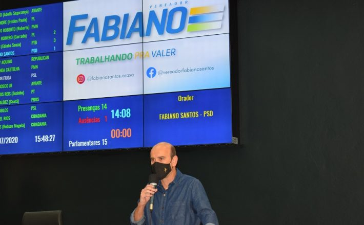 Fabiano solicita estudo de parceria para colocação de lâmpadas de LED em toda cidade