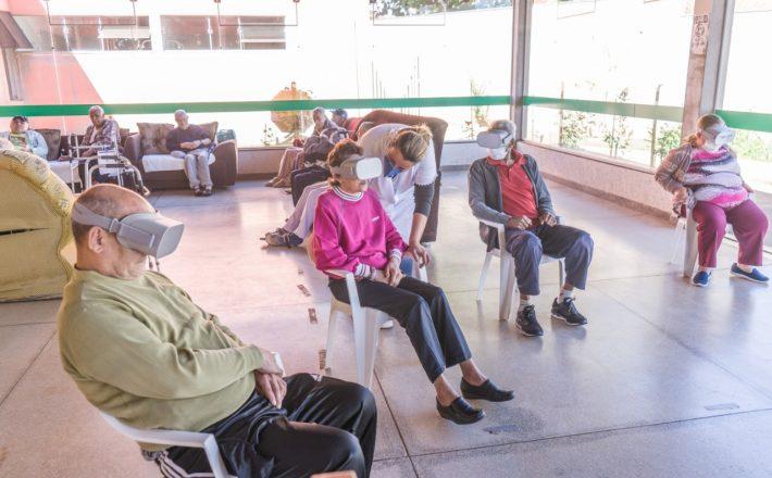 Campanha Serenidade, disponibiliza realidade virtual para pessoas 60+
